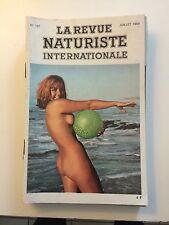 LA REVUE NATURISTE N ° 167  /1969 / PIN UP CHARME EROTISME / NO PLAY BOY NO LUI