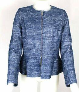 Banana Republic Blue Peplum Wool Blend Blazer Jacket Sz 6 - NWT