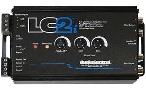 AudioControl LC2i 2 Chan. Line Out Hi/Lo Converter+Bass Processor Audio Control