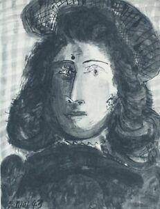 PICASSO Pablo (d'après) : Portrait de Dora Amaar - Eau Forte - 31x24cm - 1952