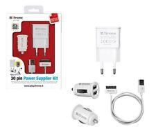Kit alimentazione Iphone Ipad casa - auto 2Am doppia usb cavo 1 mt bianco 30 pin