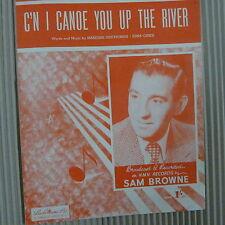 Canción Hoja C'n me canoa a usted por el río Sam Browne 1950