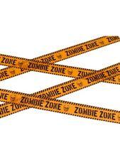 Zombie Zone Tape 6mtr Crime Scene/Halloween/Joke/Police/Barrier Tape