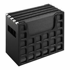 Portable Desktop File Hanging Folder Box Organizer Cabinet Filling Handle Letter