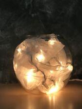HxØ200x20 Farbe Bordeaux Leuchtschal Organza Rund mit 35er Lichterkette