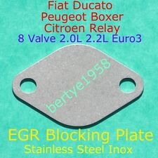 EGR Valve blank Plate Euro3 Boxer Relay Ducato 2.0L 2.2L 8 valve engines Block