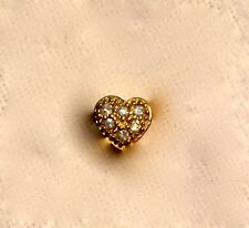 Linx & More Gold Floating Heart Charm with Cubic Zirconia