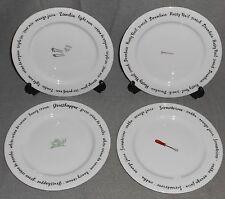 Set (4) Pottery Barn BAR LINGO Appetizer or Salad Plates