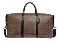 $800 Coach Duffle/Trekker 52 Signature Coated Canvas Travel Bag F77896