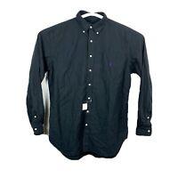 Mens Ralph Lauren 100% Cotton Oxford Lt Black Button Down Shirt NWT New #2856