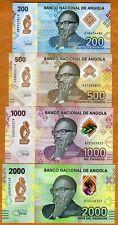 SET Angola, 200-500-1000-2000 Kwanzas, 2020, P-New, Polymer UNC > New Designed