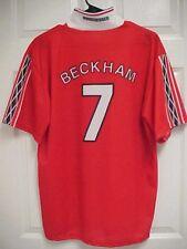 DAVID BECKHAM 7 Manchester United Red Sharp Soccer Football Home Jersey Shirt