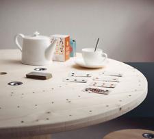 Tavolo in legno realizzato con bobina avvolgicavo nuova diametro 120- smontato