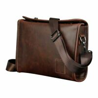 Men Leather Messenger Briefcase Laptop Shoulder Crossbody Bag Business Handba SS
