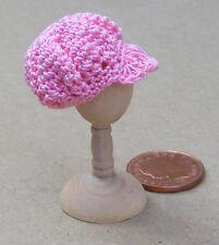 1:12 Scale Ladies Pink Crochet Hat Tumdee Dolls House Miniature Clothing T1