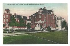 UNION BRIDGE MD Maryland Collegiate Institute Antique Postcard Early Old Vtg PC