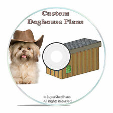 CAD Designed Insulated Dog House Plans, Large breed weatherproof w/ sundeck, DIY