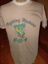 VINTAGE U.S MILITARY FIGHTING MACHINE  T- SHIRT  MADE IN THE U.S.A  MEDIUM