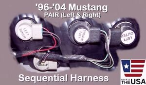 PAIR 1996 - 2004 MUSTANG SEQUENTIAL TAIL BRAKE LIGHT HARNESSES -  FREE SHIP