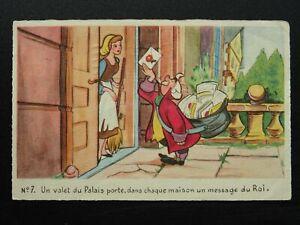 Walt Disney CINDERELLA Un valet du Palais porte... c1940's French Postcard No.7