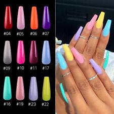 20Pcs/pack Solid Colors Full Cover Fake Nails False Nails Artificial Nail Art