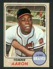 1968 Topps #394 Tommie Aaron EXMT/EXMT+ Braves 75656