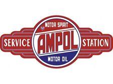 NEW Ampol Service Station tin metal sign