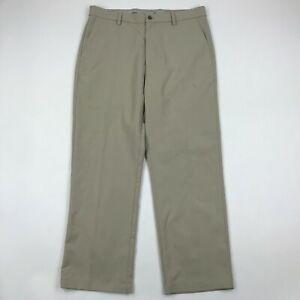 """Callaway Men Beige Flat Front Golf Pants sz 36x30 (Inseam 29"""")"""