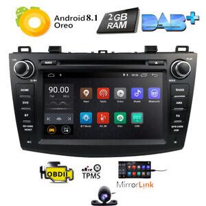 """Für Mazda 3 2010-2013 2 DIN 8"""" Android 10.0 Autoradio Stereo GPS Navi WIFI 2+16G"""