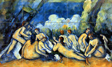 Art Cezanne Bathers Mural Ceramic Backsplash Bath Tile #373