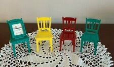 """Set of 4 Department 56 Metal Miniature Chairs with Photo Frame (1"""" X 1 1/4"""")"""