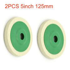 3x Klett Polierscheiben 125 mm Filzscheiben Schleifscheiben Polierdisc Filz