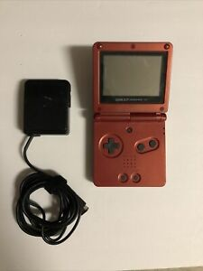 Nintendo Game Boy Advance SP GBA Flame Red w/ CHARGER