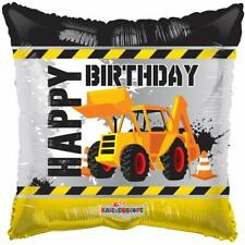 Happy Birthday Construction Digger Foil Balloon 46 cm (18 in) Party Event Decor