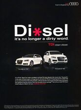2009 Audi A3 and Q7 TDI Diesel Original Advertisement Print Art Car Ad J952