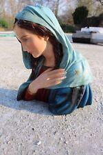 Signed Arnova Vintage Virgin Mary Madonna Plaster Statuette Bust Chalk
