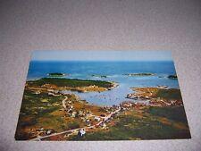 1960s AERIAL-VIEW VILLAGE of COREA MAINE VTG PHOTO POSTCARD