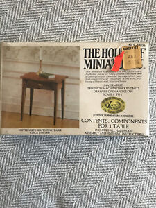 New THE HOUSE OF MINIATURES Hepplewhite Serpentine Table #40036 For Dollhouse