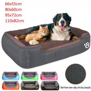 Large Dog Beds Pet Cushion House Soft Warm Kennel Blanket Nest Washable UK