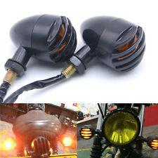 2x Ambre LED Moto Clignotants Mini Bullet Indicateur Blinker Lumière Pr Harley