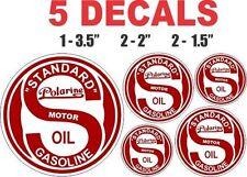 5 Standard Polarine Motor Oil Gasoline Vinyl Decals