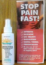 PREMIERE'S PAIN SPRAY -  4 oz Spray - Natural Menthol Herbal Formula