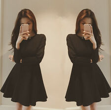 Hot Sale! 2015 Korean Women Princess Dress Expansion Skirt Waist Bottoming Dress