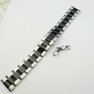 12-24 Stainless Steel Bracelet Watch Strap Band Replacement Straight+Curved End