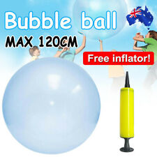 120cm Wubble Bubble Ball Firm Water Balloons Toys Inflatable Soft Stretch Blue