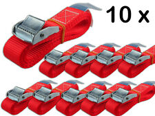 10 Stück Befestigungsriemen mit Klemmschloss für Fahrradträger Spanngurt 250 DaN