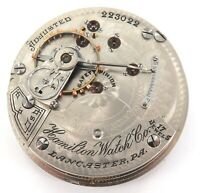 RARE ONLY 50,182 MADE / 1903 HAMILTON 927 18S 17J MENS POCKET MOVEMENT & DIAL.