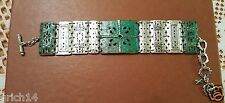 "Silpada Silver Brass ""Artifact"" Bracelet B2832 Retired"