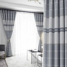 Blackout Sheer Curtains Tulle Plaid Patterned Window Screens Treatment Decor New