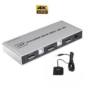 8K Displayport 1.4 KVM Switch USB Displayport KVM DP Switcher for sharing Mouse
